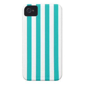 Aqua Vertical Stripes Case-Mate iPhone 4 Case