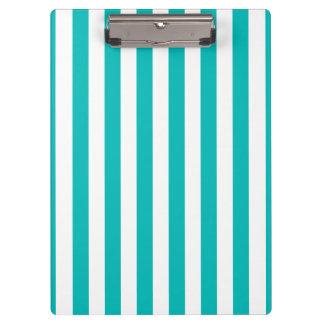 Aqua Vertical Stripes Clipboard