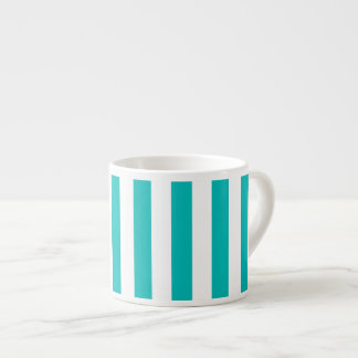 Aqua Vertical Stripes Espresso Cup