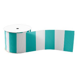 Aqua Vertical Stripes Grosgrain Ribbon