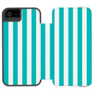 Aqua Vertical Stripes Incipio Watson™ iPhone 5 Wallet Case