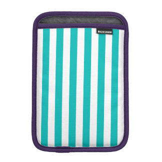 Aqua Vertical Stripes iPad Mini Sleeve