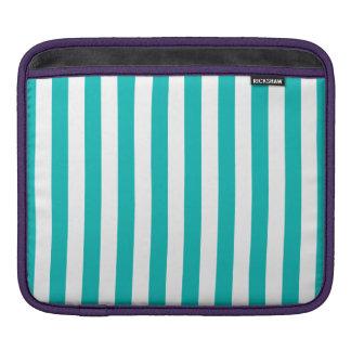 Aqua Vertical Stripes iPad Sleeve