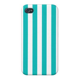 Aqua Vertical Stripes iPhone 4 Case