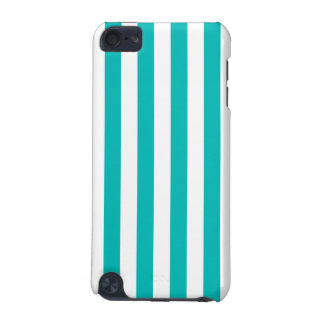 Aqua Vertical Stripes iPod Touch (5th Generation) Cover