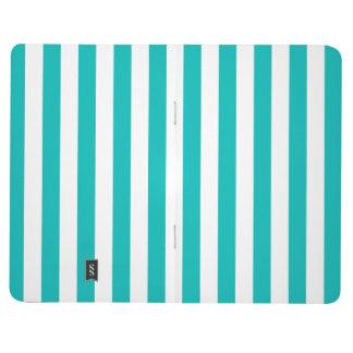 Aqua Vertical Stripes Journal