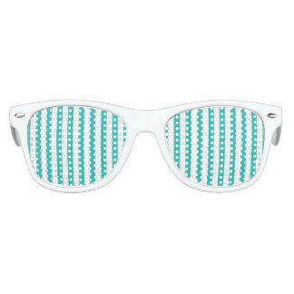 Aqua Vertical Stripes Kids Sunglasses