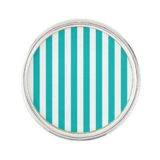 Aqua Vertical Stripes Lapel Pin
