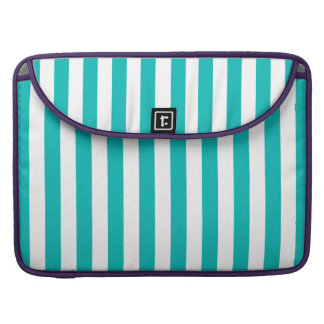 Aqua Vertical Stripes MacBook Pro Sleeves
