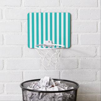 Aqua Vertical Stripes Mini Basketball Hoop
