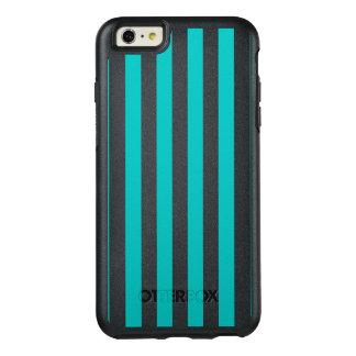 Aqua Vertical Stripes OtterBox iPhone 6/6s Plus Case