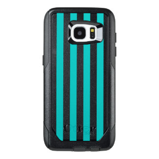 Aqua Vertical Stripes OtterBox Samsung Galaxy S7 Edge Case