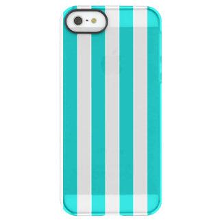 Aqua Vertical Stripes Permafrost® iPhone SE/5/5s Case