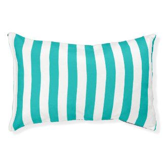 Aqua Vertical Stripes Pet Bed