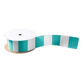Aqua Vertical Stripes Satin Ribbon