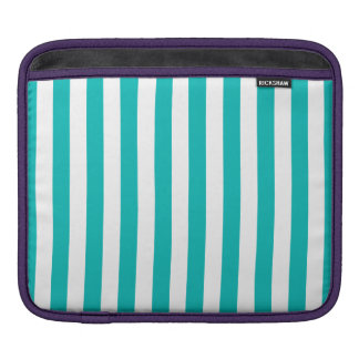 Aqua Vertical Stripes Sleeves For iPads