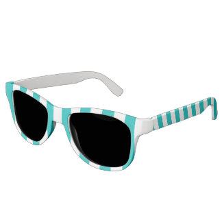 Aqua Vertical Stripes Sunglasses