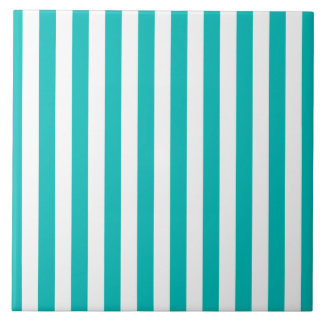 Aqua Vertical Stripes Tiles