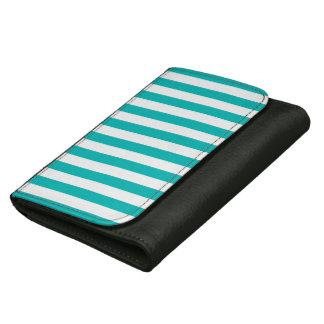 Aqua Vertical Stripes Wallet