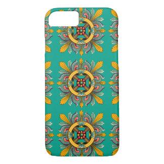 Aqua Victorian Tile Design iPhone 8/7 Case