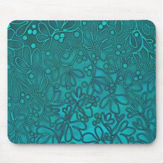 Aqua Vines Mousepad