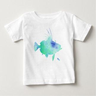 Aqua Water splatter Fish Baby T-Shirt