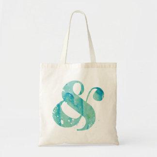 Aqua Watercolor Ampersand