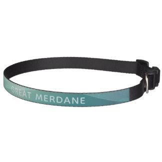 Aqua Watercolor Merdane Great Dane Dog Collar