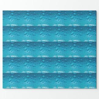 Aqua Waterdrops on Glass:-