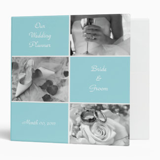 Aqua Wedding Planning Binder