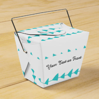 Aqua White Aztec Arrows Pattern Favor Box