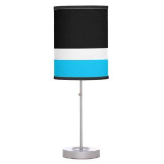 Aqua White Black Colorblock Table Lamp
