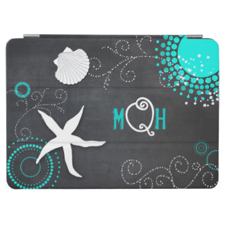 Aqua White Chalkboard Beach Monogram iPad Air Case iPad Air Cover