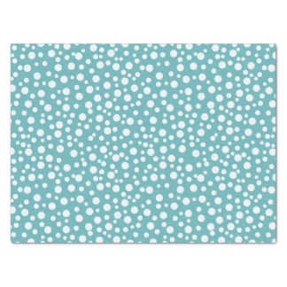 Aqua White Confetti Dots Tissue Paper
