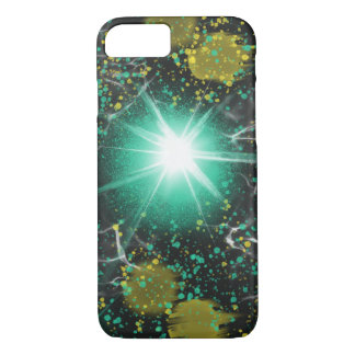 Aqua White Fantasy Space Star Abstract Art Design iPhone 8/7 Case