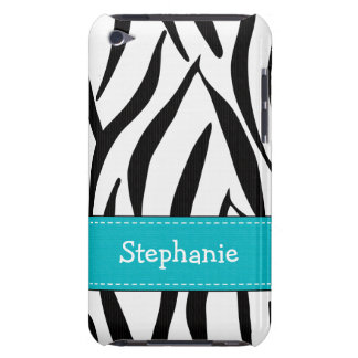 Aqua Zebra Print iPod Touch 4th Gen Case-Mate Cove