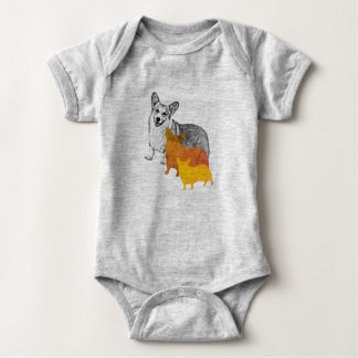 : aquacorg : Pop Art Corgi Baby Bodysuit
