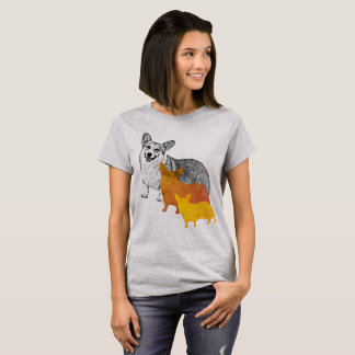 : aquacorg : Pop Art Corgi T-Shirt