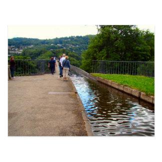 Aquaduct,built for narrow boats, Llangollen, Postcard