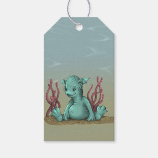 AQUALION ALIEN MONSTER CARTOON  GIFT TAG