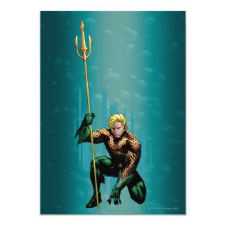 "Aquaman Crouching 5"" X 7"" Invitation Card"