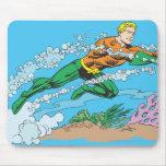Aquaman Dashes Thru Water Mousepads