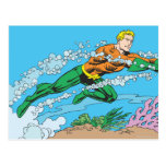 Aquaman Dashes Thru Water Postcard