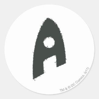 Aquaman Grunge 'A' Round Sticker