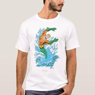 Aquaman Leaps in Wave T-Shirt