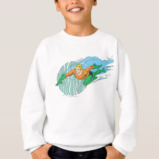 Aquaman Leaps Left Sweatshirt