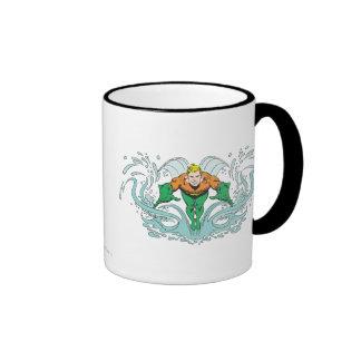 Aquaman Lunging Forward Mugs