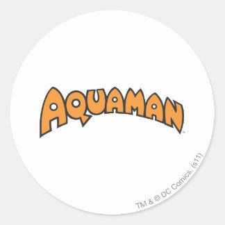 Aquaman Orange Logo Stickers