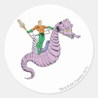 Aquaman Rides Seahorse Sticker