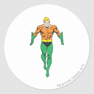 Aquaman Runs Round Sticker